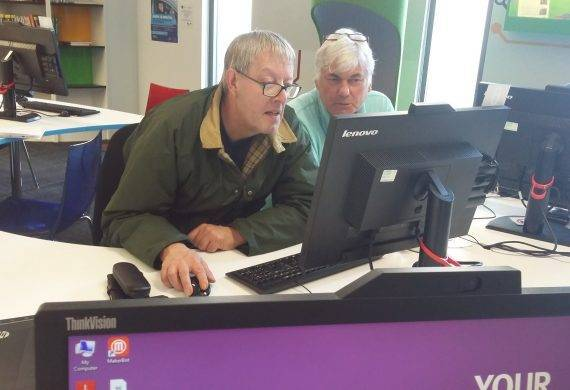 Andrew Babb in Stafford Library Work Club